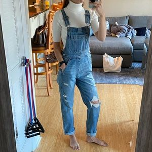 NWT A&F Ripped High Rise Overalls - Size XS